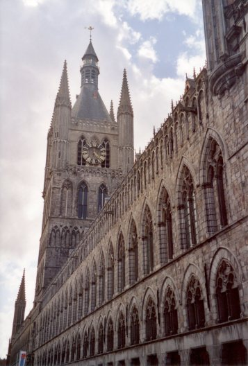Diary Page55 Ypres Cloth Hall (neg 12)