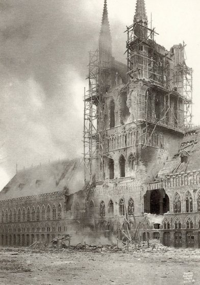 Diary Page55 Ypres Cloth Hall (postcard)